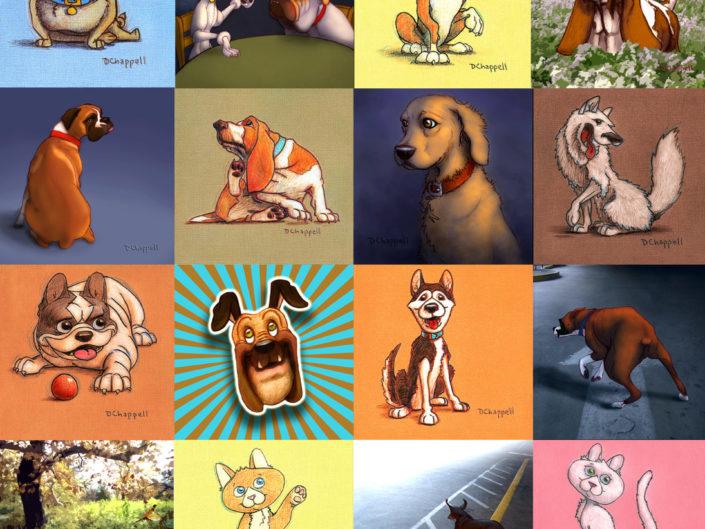 Dogtown Hydrations: Fun Animal Illustrations